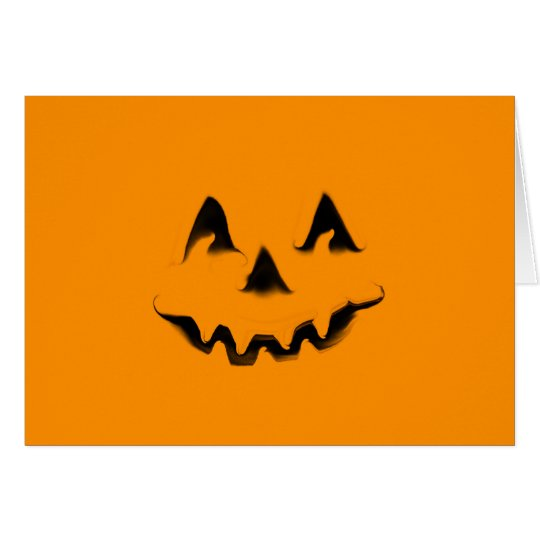 Smilin' Pumpkin Halloween card