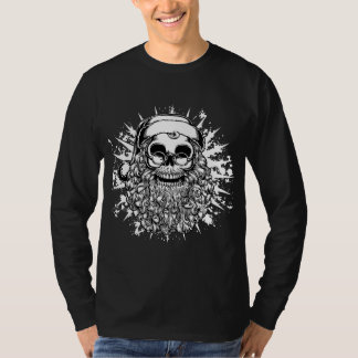 Smilin' Santa Skull -bw T-Shirt