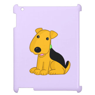 Smiling Airedale Puppy Dog Design Case For The iPad 2 3 4