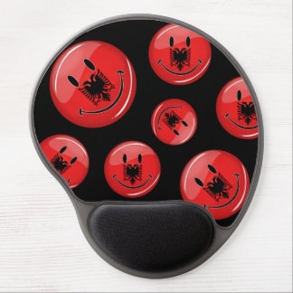 Smiling Albanian Flag Gel Mouse Pad