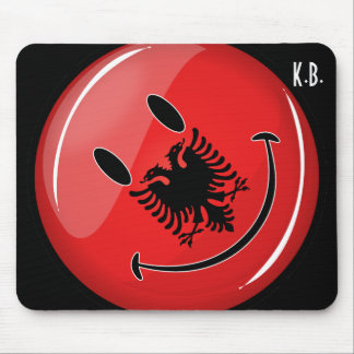 Smiling Albanian Flag Mouse Pad
