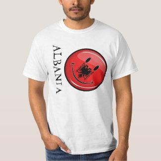 Smiling Albanian Flag T-Shirt