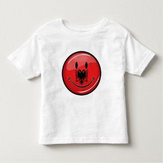 Smiling Albanian Flag Tee Shirt