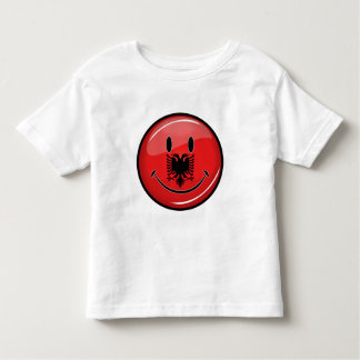 Smiling Albanian Flag Toddler T-Shirt