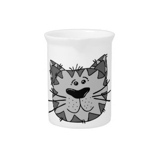 Smiling Alley Cat Drink Pitcher