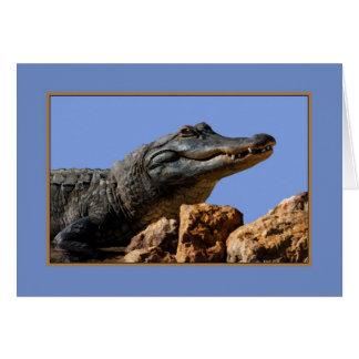 Smiling Alligator, Birthday Card, Humor Greeting Card