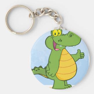 Smiling Alligator Or Crocodile Key Ring