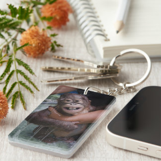 Smiling Animals Orangutan Baby Key Ring