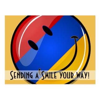 Smiling Armenian Flag Postcard