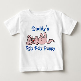 Smiling Baby Pink Puppy Dog Roll Over Baby T-Shirt