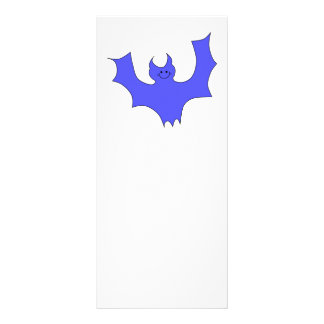 Smiling Bat. Blue Cartoon Custom Rack Cards