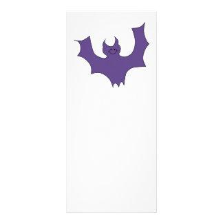 Smiling Bat Dark Purple Rack Card Design