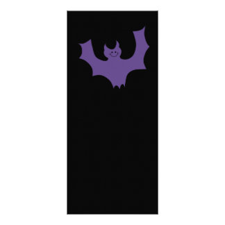 Smiling Bat. Dark Purple. Custom Rack Card