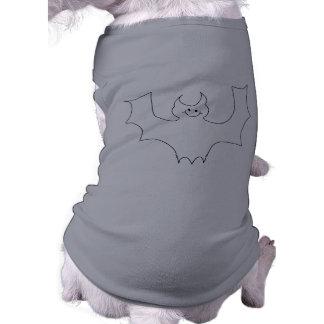 Smiling Bat. White cartoon illustration. Sleeveless Dog Shirt