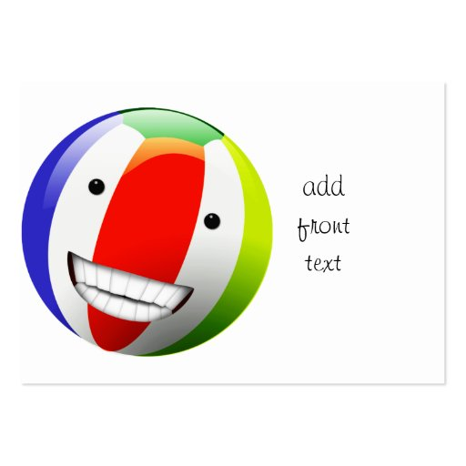Smiling Beach Ball Happy Face Business Card Templates