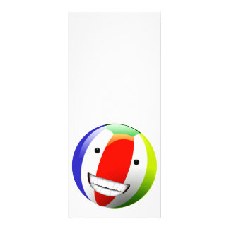 Smiling Beach Ball Happy Face Full Color Rack Card