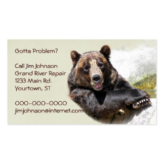 Smiling Bear Pack Of Standard Business Cards
