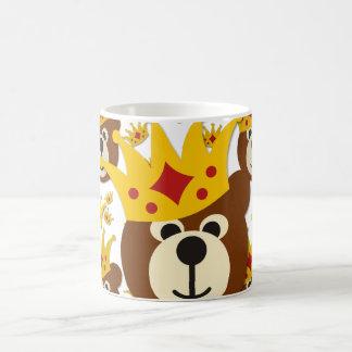 Smiling Bear With Crown Basic White Mug
