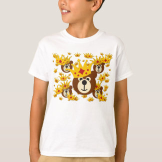 Smiling Bear With Crown T Shirts