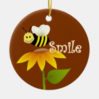 Smiling Bee Christmas Ornament