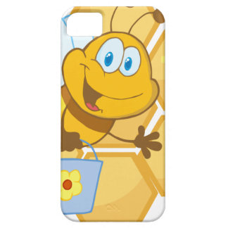 Smiling bee hold a bucket iPhone 5 covers