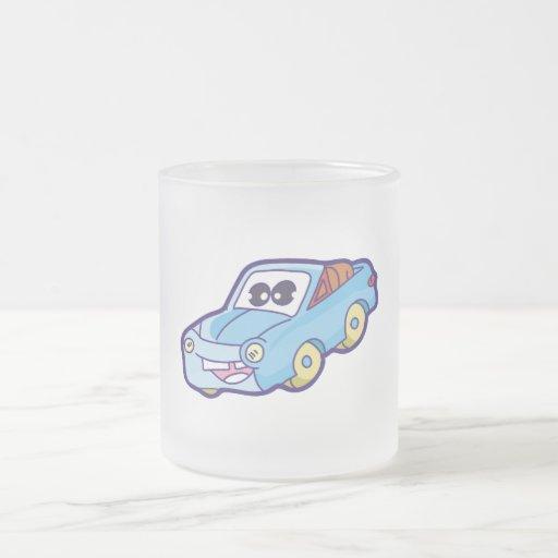 Smiling Blue Car Tshirts and Gifts Mugs