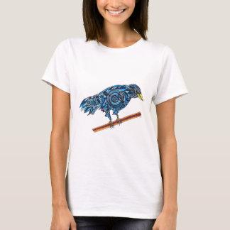 Smiling Blue Crow T-Shirt