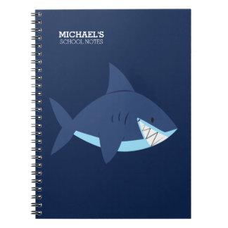 Smiling Blue Shark Spiral Notebook