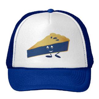 Smiling blueberry pie slice cap