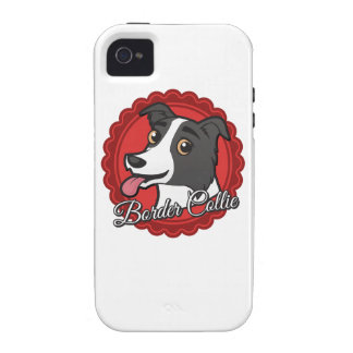 Smiling Border Collie Vibe iPhone 4 Cases