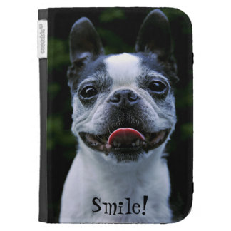 Smiling Boston Terrier Case For Kindle