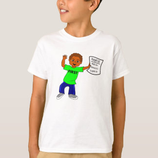 Smiling Boy Report Card A+ T-shirt