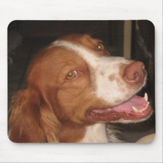 Smiling Brittany Spaniel Mouse Mat