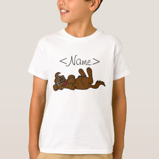Smiling Brown Puppy Dog Roll Over Shirts