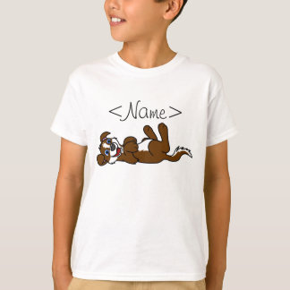 Smiling Brown Puppy Dog with Blaze Roll Over Shirts