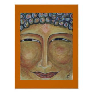 Smiling Buddha Poster by ValAries