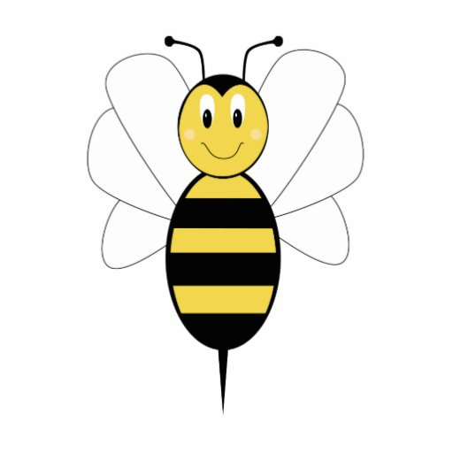 Bee cut out pattern smiling bumble bee ornament cut outs zazzle