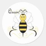 Smiling Bumble Bee Queen Bee Sticker