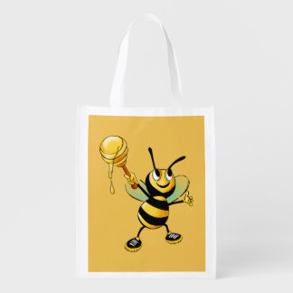 Smiling Bumble Bee with a Scoop of Honey
