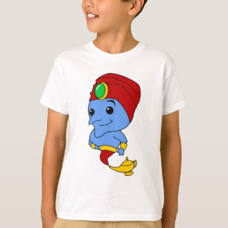 Smiling Cartoon Genie With Lamp T-Shirt