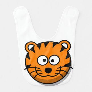 Smiling Cartoon Orange Tiger Bib