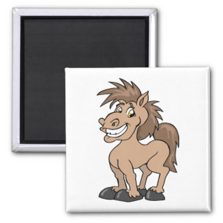 Smiling Cartoon Pony Silly Horse Magnet