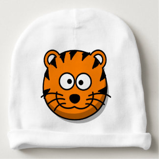 Smiling Cartoon Tiger Cat Baby Beanie