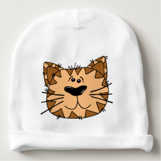 Smiling Cartoon Wild Cat Baby Beanie