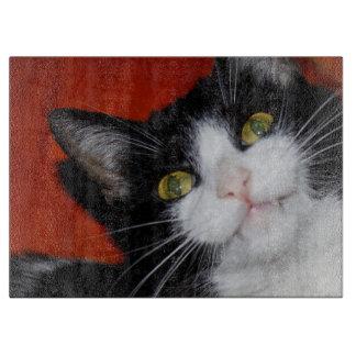 Smiling cat cutting board