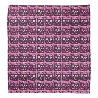 smiling cat head sweet illustration bandanas