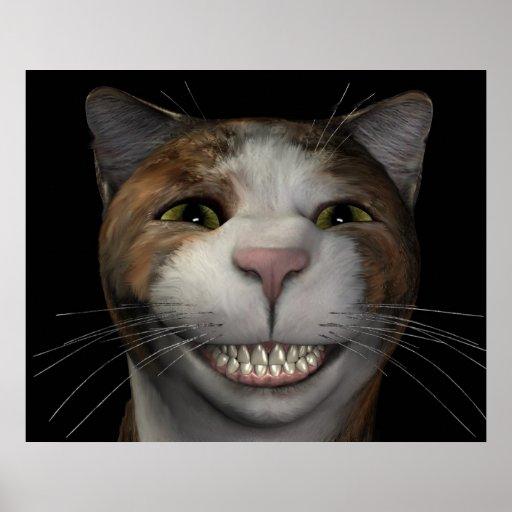 Smiling Cat Poster