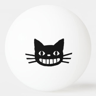 Smiling Cat with Long Whiskers