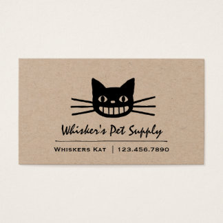 Smiling Cat with Long Whiskers Business Card