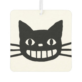 Smiling Cat with Long Whiskers Car Air Freshener